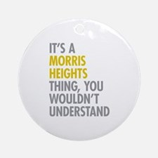Morris Heights Bronx NY Thing Ornament (Round)