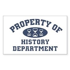Property Of History Department Decal