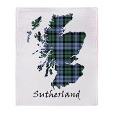 Map - Sutherland dist. Throw Blanket