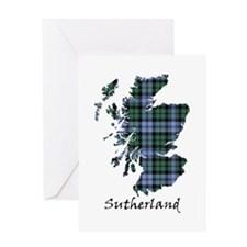 Map - Sutherland dist. Greeting Card