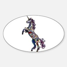 Wild Unicorn Sticker (Oval)
