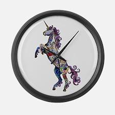 Wild Unicorn Large Wall Clock