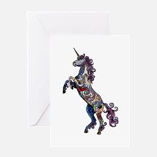 Wild Unicorn Greeting Card