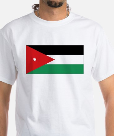 Flag of Jordan White T-Shirt