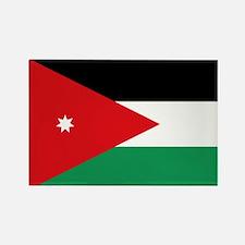 Flag of Jordan Rectangle Magnet