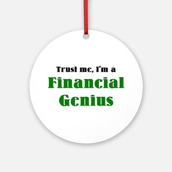 financial genius Ornament (Round)