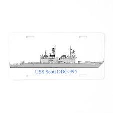 scott large Aluminum License Plate