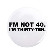 "40th Birthday 3.5"" Button"
