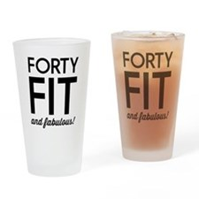 40 Fit and Fabulous! Drinking Glass