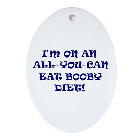 Baby Booby Diet Oval Ornament