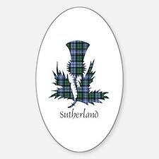 Thistle - Sutherland dist. Sticker (Oval)