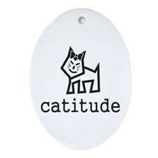 Catitude Ornament (Oval)