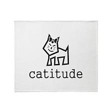 Catitude Throw Blanket