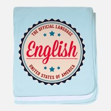 USA Official Language baby blanket
