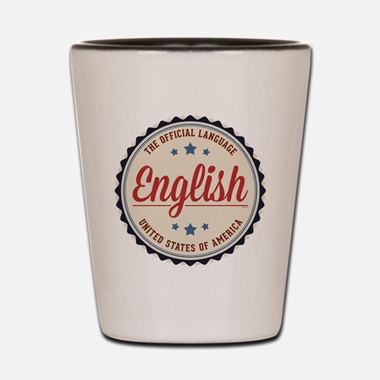 USA Official Language Shot Glass