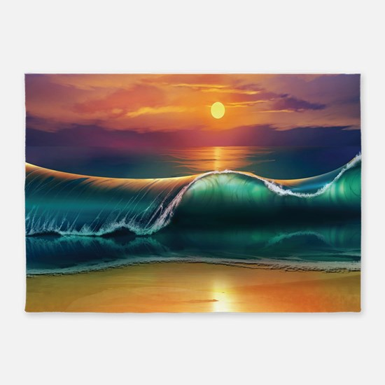 Sunset Beach 5'x7'Area Rug