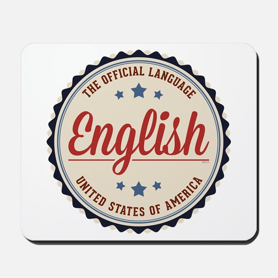 USA Official Language Mousepad