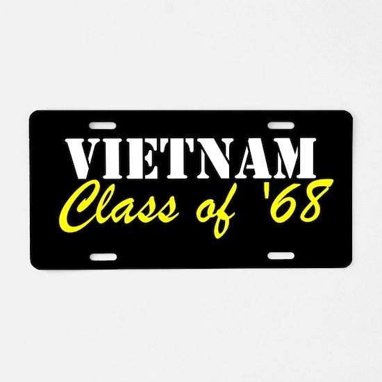 Vietnam Class Of 1968 Aluminum License Plate