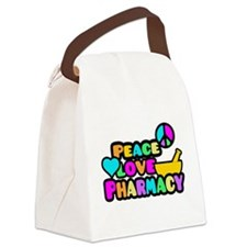 Peace Love Pharmacy Canvas Lunch Bag