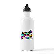 Peace Love Pharmacy Water Bottle