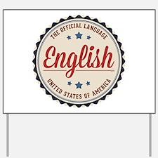 USA Official Language Yard Sign