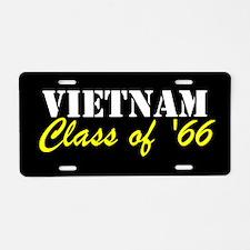 Vietnam Class Of 1966 Aluminum License Plate