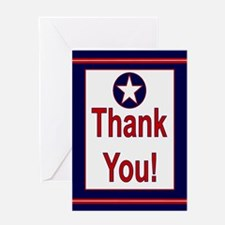 AIR FORCE Colors Thank You CARD Greeting Card