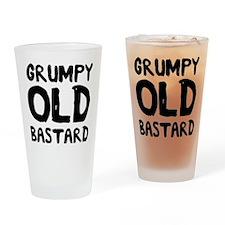 Grumpy Old Bastard Drinking Glass