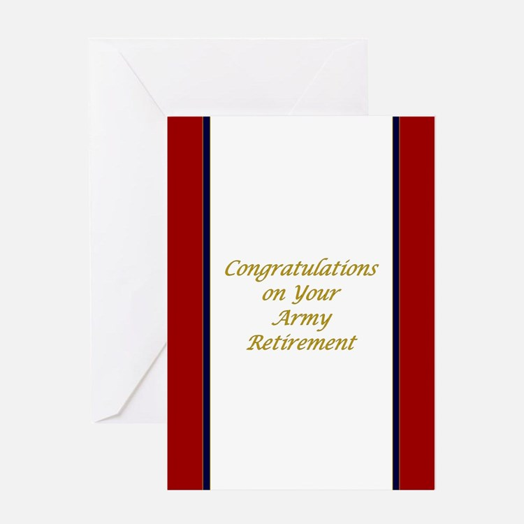 U. S. Army Retirement Greeting Cards