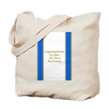 Air Force Retirement Congratulations Tote Bag