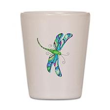 stainedGlassDragonfly Shot Glass