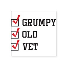 Grumpy Old Vet Sticker