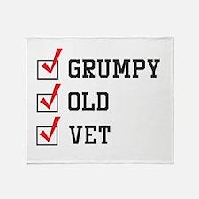 Grumpy Old Vet Throw Blanket