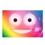 Candy Smiley - Rainbow Postcards (Package of 8)