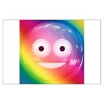 Candy Smiley - Rainbow Large Poster