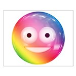 Candy Smiley - Rainbow Small Poster
