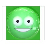 Candy Smiley - Green Small Poster