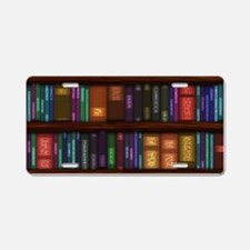 Old Bookshelves Aluminum License Plate