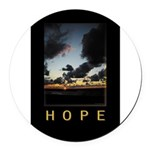 Hope Round Car Magnet