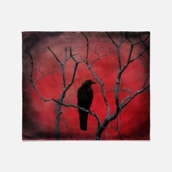 Unique Crow Throw Blanket