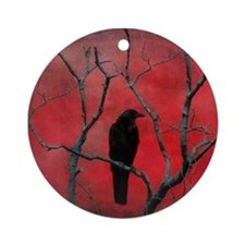 Cute Goth Round Ornament