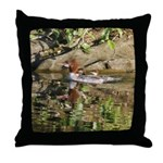 Merganser Family Throw Pillow
