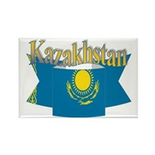Kazakhs flag ribbon Rectangle Magnet