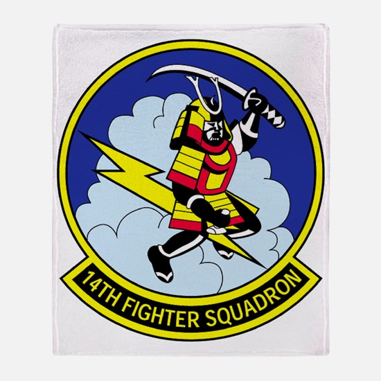 14th Fighter Squadron Throw Blanket