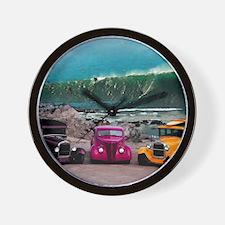 Wave Rides Wall Clock