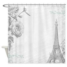 Paris SC Grey Shower Curtain