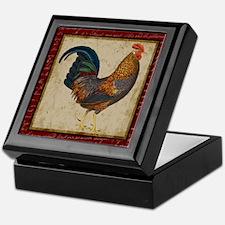 Red Rooster vintage Keepsake Box