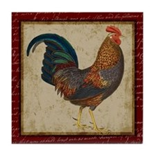 Red Rooster vintage Tile Coaster