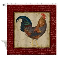 Red Rooster Vintage Shower Curtain