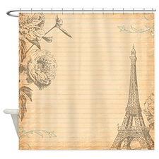 Paris SC Orange Shower Curtain